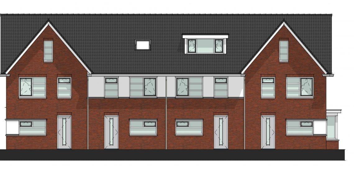 Nieuwbouw 7 starterswoningen te Saasveld