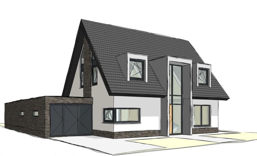 Nieuwbouw moderne woning in Borne